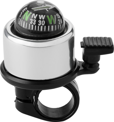 Aluminium bicycle bell with compass.