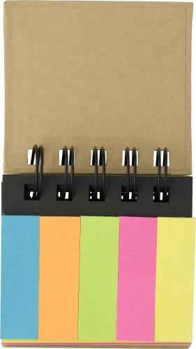 Cardboard memo folder
