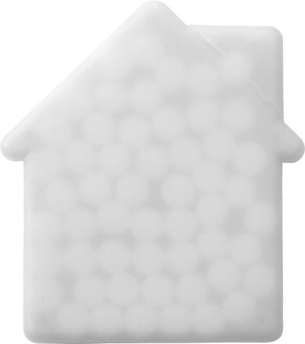 Mintkort i form av et hus