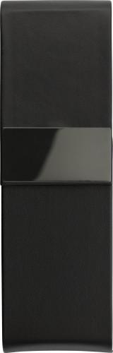 Lyxigt svart fodral i PU, lämpligt för två pennor