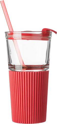 To-go-kopp i glass med silikon