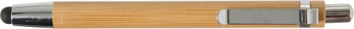 Kulepenn i bambus med gummitopp