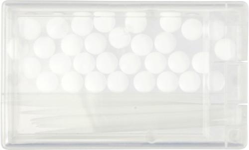 Mintkort med tannpirker