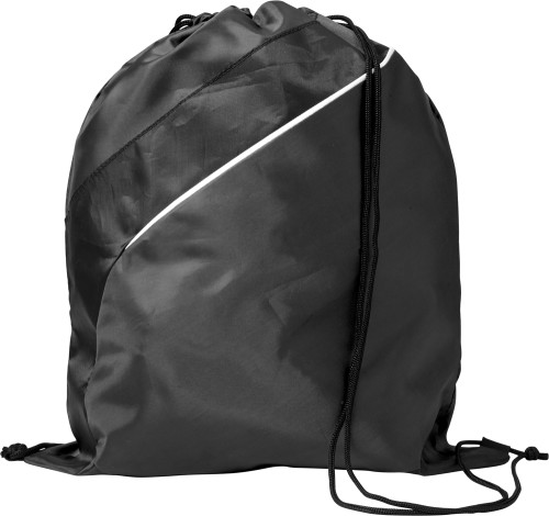 Gympapåse/ryggsäck med dekorrand, polyester (210D)