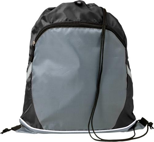 Gymbag med forlomme i polyester (210D)