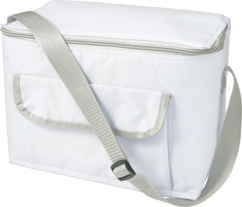 Rektangulär kylväska med framficka, i polyester (420D)