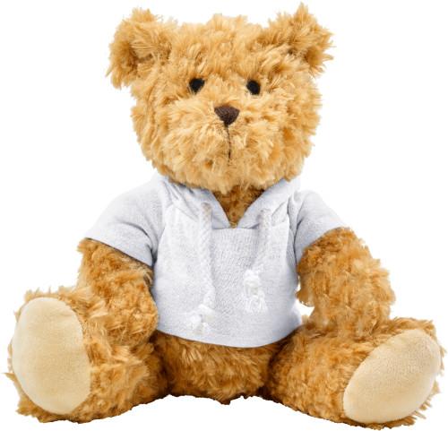 Plyschfigyr teddybjörn med luvtröja