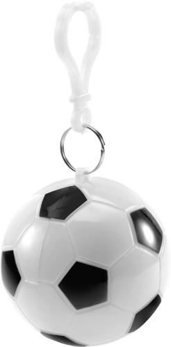 Regnponcho i plastfotboll