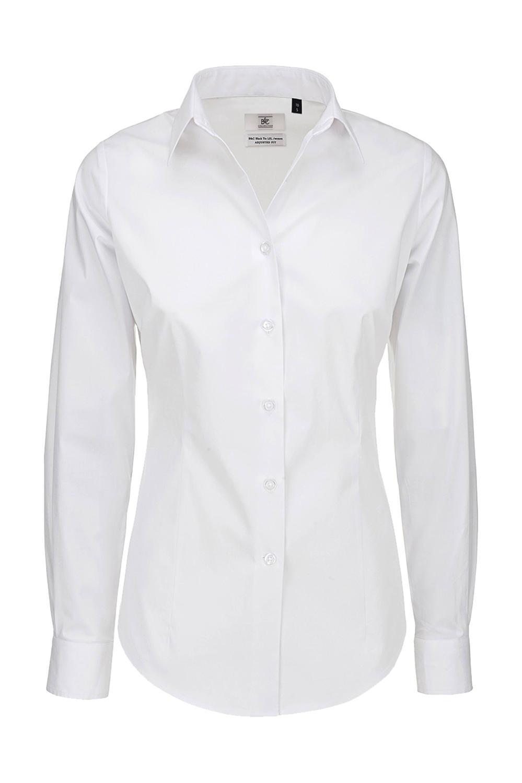 Black Tie LSL/women Poplin Shirt
