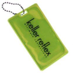 Luggage tag reflector